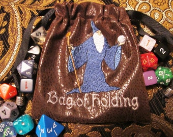 Wizard Bag of Holding Dice Bag  Dungeons and Dragons Mystical  Fantasy  RPG