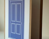 Handmade Note Cards Set - Periwinkle Door
