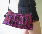 Hmong Vintage Style Ethnic Thai Boho Small Size Floral design Embroidered Purse Bag