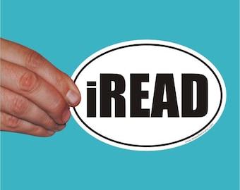 iREAD oval sticker