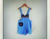 seersucker blue gun overalls