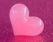 Huge Pink Heart Ring - Size 6 1/2 to 7 - Free Standard Shipping to Canada and US