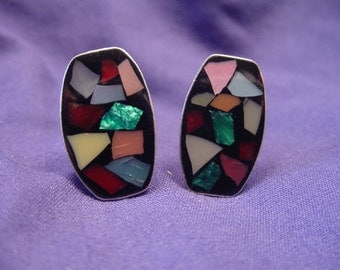 Mosaico Set in Sterling Silver Cufflinks 2