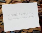 Eternal Optimist: living at home -- letterpress card