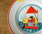 Children's Vintage Plate - Fun Dishes for Children - Soviet Union Tableware - Kitchen - ARS Tallinn
