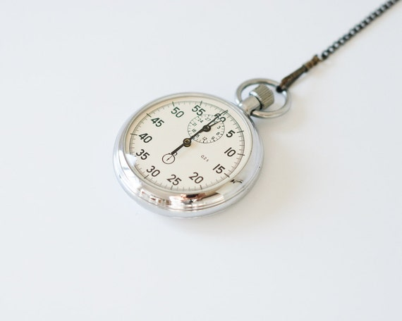 Vintage Stopwatch - Made in USSR - Soviet Stopwatch - Working - Father's Day Gift Idea - Graduation Gift - For Teacher