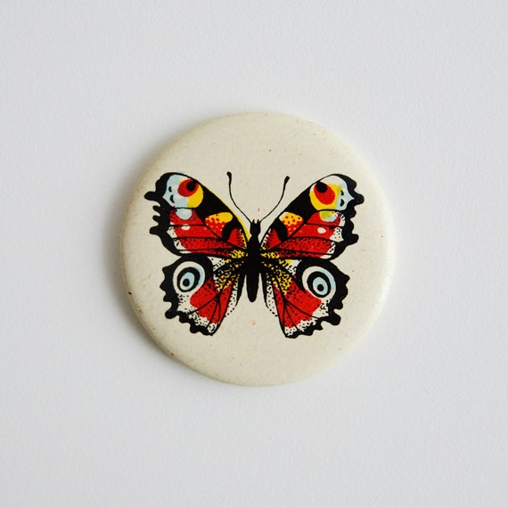 Butterfly Soviet Pin - Vintage Pin Button - Made in USSR - Small Gift Idea