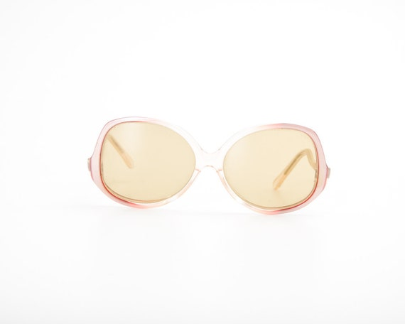 Vintage Oversized Sunglasses - USSR - Light Pink Soviet Glasses for Women