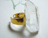 Crystal Point Ring Natural Gemstone Specimen