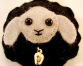 SALE 20% OFF  Sheep Key Chain - Nimbus the Black Cloud-Sheep Felt Key Chain