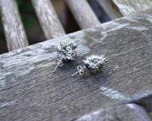Raw Pyrite Studs