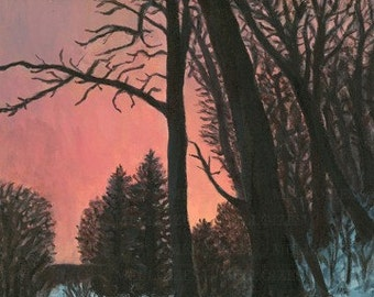 Original Morning Light 11x14 acrylic painting on stretched canvas