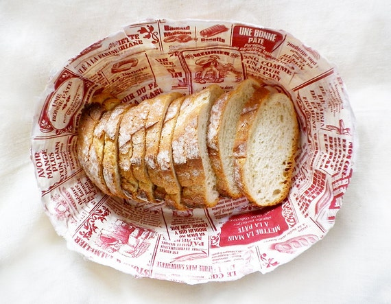 Holidays. Easter. Red. Shabby Chic. Recycled. Ecofriendly. Bread Paper Basket MICHE