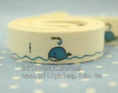 V128 - cotton tape/ sewing tape/ Ribbon - cotton - Whale