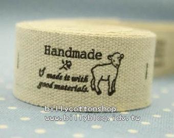 V117 - cotton tape/ sewing tape/ Ribbon - cotton - sheep