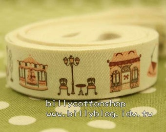 V125 - cotton tape/ sewing tape/ Ribbon - cotton - sightseeing