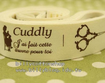 V126 - cotton tape/ sewing tape/ Ribbon - cotton - Cuddly