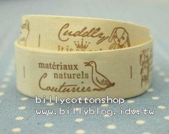 V140 - cotton tape/ sewing tape/ Ribbon - cotton - swan