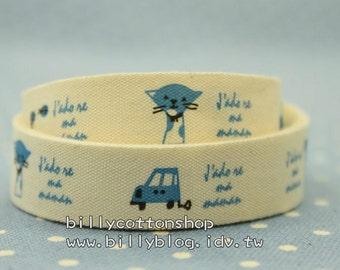 V151 - cotton tape/ sewing tape/ Ribbon - cotton - CAR