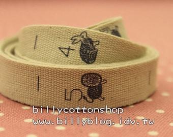 V158 - cotton tape/ sewing tape/ Ribbon - cotton - animals