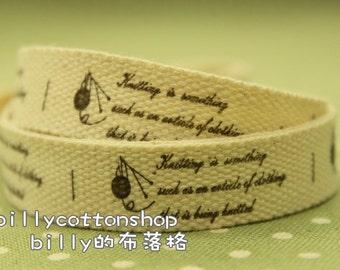 V184 - cotton tape/ sewing tape/ Ribbon - cotton - knitting