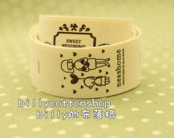 V251 - cotton tape/ sewing tape/ Ribbon - cotton -girls