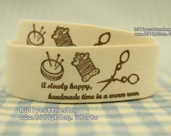 V424 - cotton tape/ sewing tape/ Ribbon - cotton - handmade time