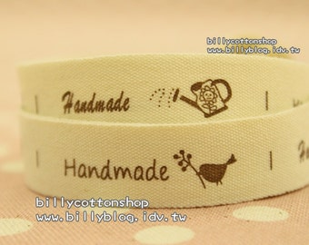 V428 - cotton tape/ sewing tape/ Ribbon - cotton - handmade