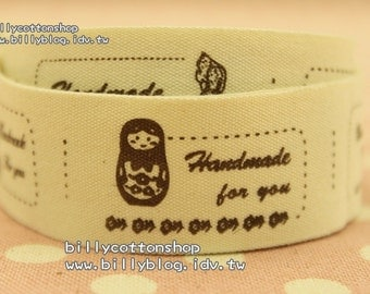 V430 - cotton tape/ sewing tape/ Ribbon - cotton - russian dolls