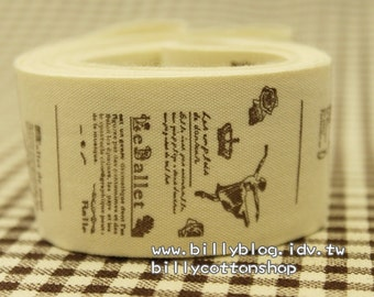 V372 - cotton tape/ sewing tape/ Ribbon - cotton - ballet