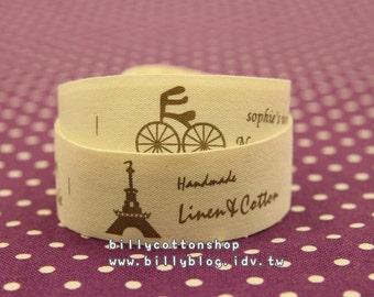 V536 - cotton tape/ sewing tape/ Ribbon - cotton - bike