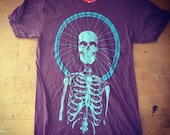 Bicycle Death Worship two color print on Heather Plum size Small