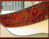 ROAD TEXTURE Design • A Beautifully Hand Tooled, Hand Crafted Leather Guitar Strap
