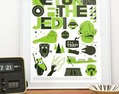 Star Wars poster,  movie poster, Jedi print,  Return Of The Jedi - Retro  Scandinavian style  A2