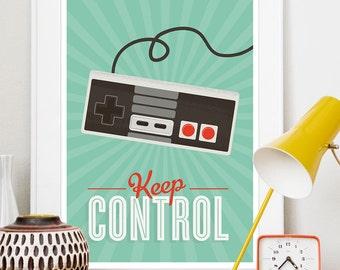 Play room art, dorm room poster,  Video game poster,  geekery art, pop art, Typography print,  Nursery print, nintendo poster,  Gaminng art
