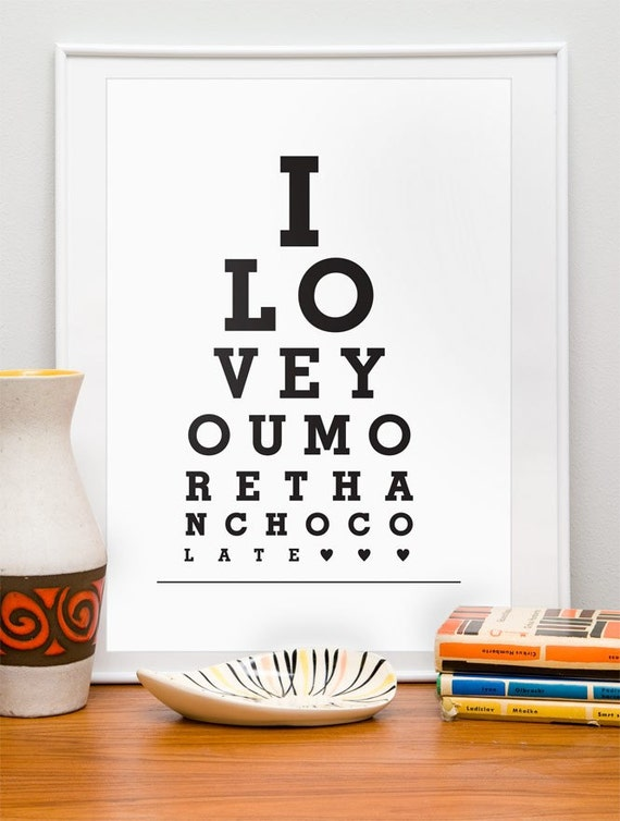Typography poster,  Wedding Gift,  Anniversary, typographic print, eyechart quote, customized Art Print,  Valentines art, Funny quote print