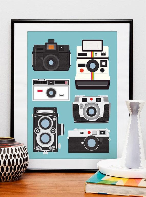 Polaroid poster print, retro wall art, Nursery print, Camera poster, modern art