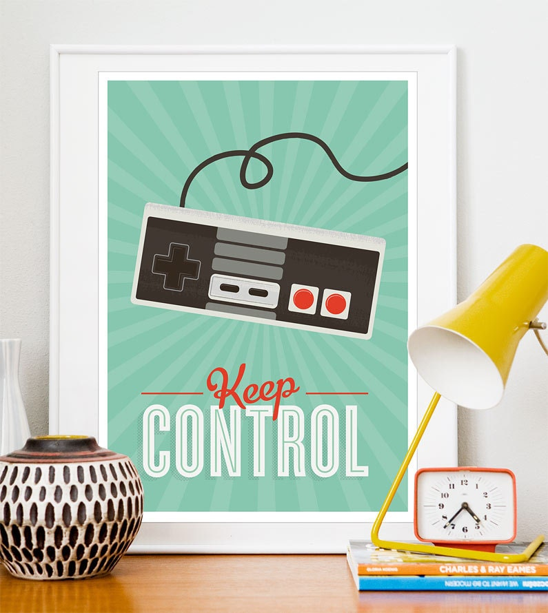 Play room art dorm room poster Video game poster geekery ~ 170956_Etsy Dorm Room Ideas