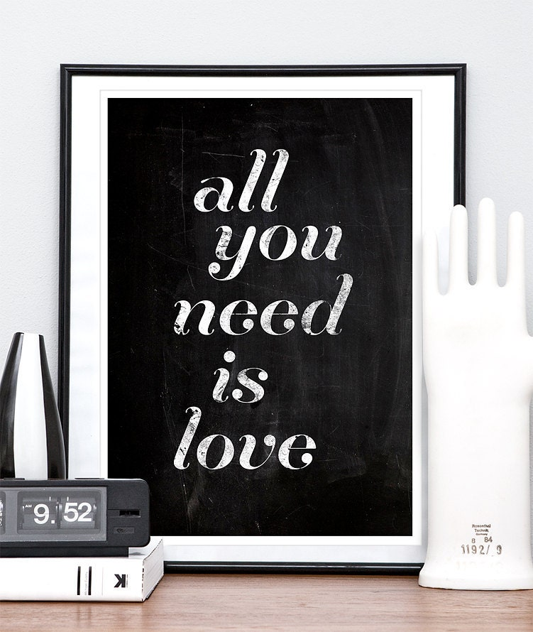 Beatles Love Quotes Love Quote Print Beatles