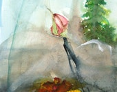 Matted Watercolor Print