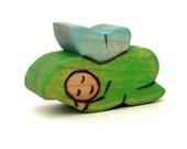 Sleepy Woodland Fairy - Waldorf Toy - Handmade Wooden Toy
