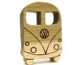 VW Bus - Wooden Teething Ring - Baby Teether Toy
