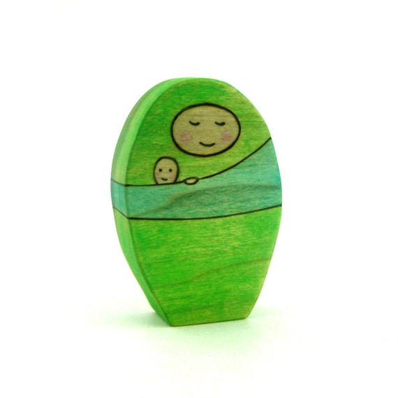 Mama & Baby - Figure Toy - Wood Toy - Nature Table Toy