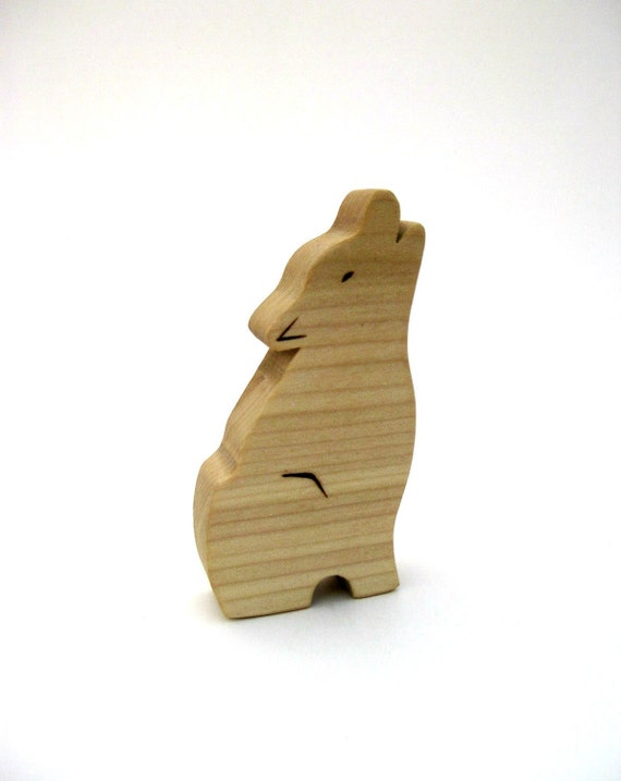 Wolf Toy - Woodland Toy - Waldorf Toy - Animal Toy