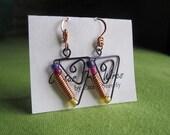 Purple Copper Coil Earrings