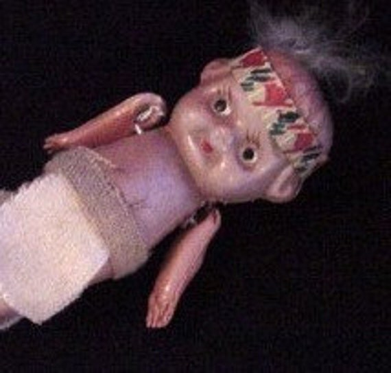 Vintage Celluloid Doll Depicting Little Native American Indian Child