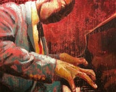 """Original jazz paintings, set of 2, very textured and awesome, """"Hot Jazz"""""""
