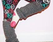 Leg Warmers - Crochet Leg Warmers -  Girls Legwarmers - Gray Leg Warmers - Toddler Leg Warmers