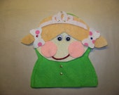 Make Your Own Princess Puppet Kit, DIY Puppet, Stocking Stuffer, Felt Puppet