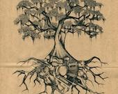 "Fine Art Screen Print ""Louisiana Roots"""